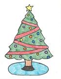 Christmas Equations Coloring Sheet