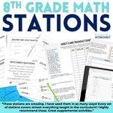 8th Grade Math Stations Bundle