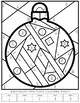 Christmas Equivalent Fractions Coloring Sheets