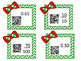 Christmas Equivalent fractions and decimals task cards wit