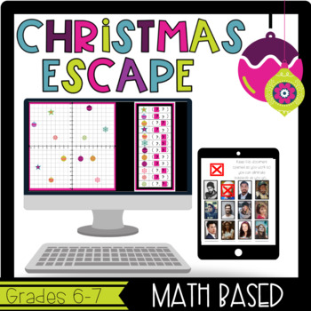 Christmas Escape Room: Math Based, Team Building and/or Review Game/Activity