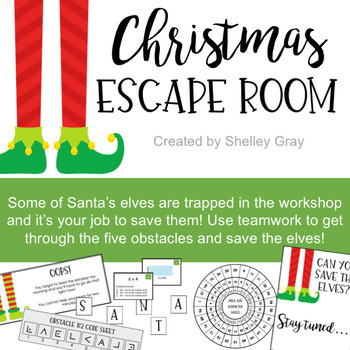 Christmas Escape Room: A Math-Skills Escape Room Style Activity for Christmas