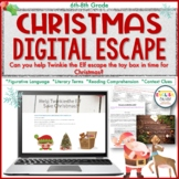 Christmas Digital Escape Room, Holiday Fun | Distance Learning