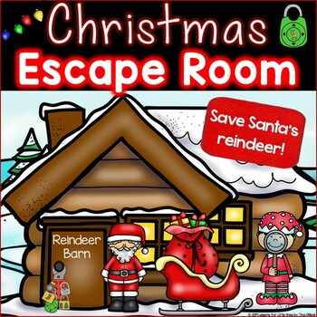 Christmas Escape Room, Christmas Breakout Activity Kindergarten - First Grade