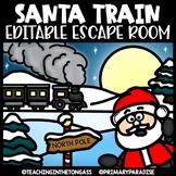 Christmas Escape Room (Editable Escape Room Christmas Activities)