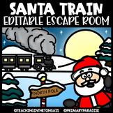 Christmas Escape Room (Editable Escape Room Christmas Activities)