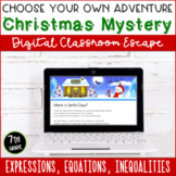 Christmas Escape Room: Expressions, Equations & Inequalities