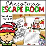 Christmas Escape Room | Kindergarten 1st Grade and 2nd Grade