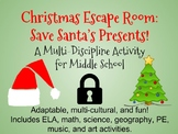 Christmas Escape Room-Multi-Discipline, Perfect for Middle School