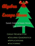 Quadratic Functions Escape Room - Christmas Edition