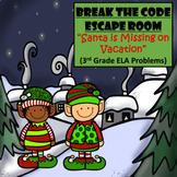 Christmas-3rd Grade Digital Escape Room-Distance Learning-Google Forms-Reading