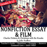 Christmas Activities, Charles Dickens's Essay Nonfiction Lesson & Paired Film