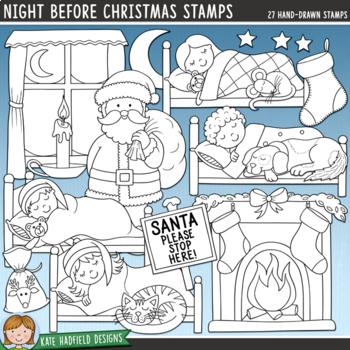 "Christmas Eve Clip Art: ""Night Before Christmas"""