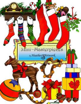 Clip Art: Christmas Eve Gifts by HeatherSArtwork