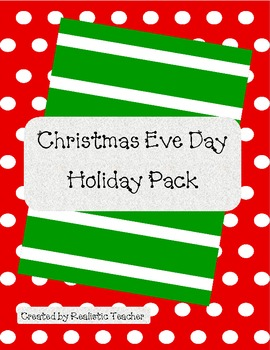 Christmas Eve Day Holiday Pack {FREEBIE}