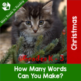 Christmas How Many Words Can You Make: K-3