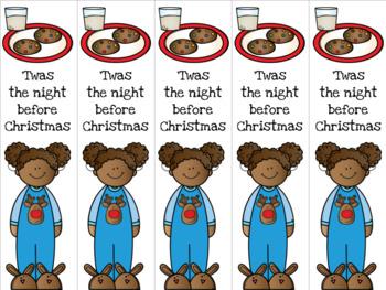 Christmas Eve girl bookmark