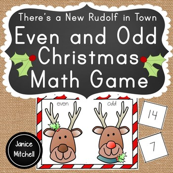 Christmas Even and Odd Math Game Numbers to 100 K to 3