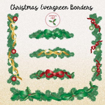 Christmas Evergreen Borders