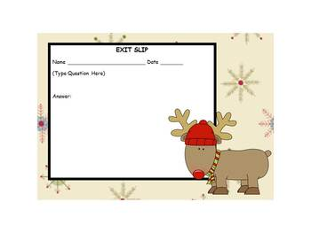 Christmas Exit Slip Template
