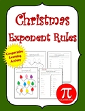 Christmas Exponents Rules Cooperative Learning