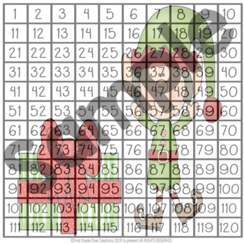 Christmas Express Hundred and Hundred and Twenty Chart Puzzles