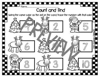 Christmas Math and Words set