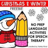 Christmas and Winter No Prep Language FREE