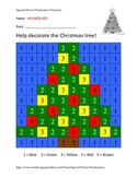 Christmas FREE - Christmas Tree - Color By Numbers!