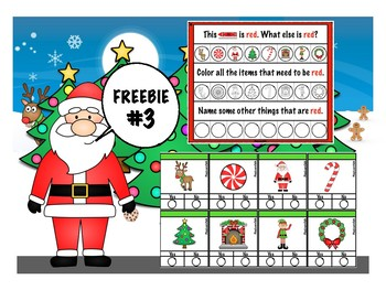 Christmas FREEBIE #3 - What Color & YES/NO
