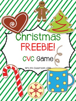 Christmas FREEBIE - CVC Game