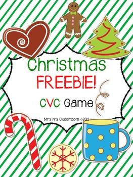 Christmas FREEBIE - CVC Game
