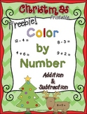 Christmas *FREEBIE* ~ Color by Number ~ Addition & Subtraction Printable