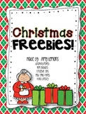 Christmas FREEBIES! {Math and ELA}