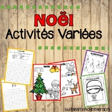 Christmas FRENCH activity pack
