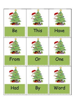 Christmas FRY Words Game