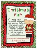 Christmas FUN {16 Reading and Math Activities}
