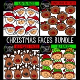 Christmas Faces Bundle {Creative Clips Clipart}