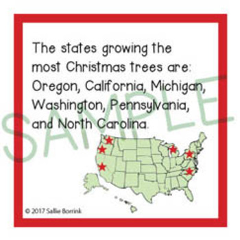 Christmas Unit Activity - Fun Fact Cards for Games, Bulletin Board