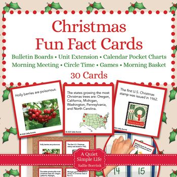 Christmas Unit Activity - Fun Fact Cards for Games, Bullet