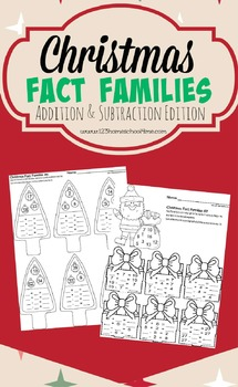 Christmas Fact Families - Addition & Subtraction