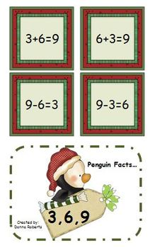 Christmas Fact Families! Christmas themed worksheets  and centers