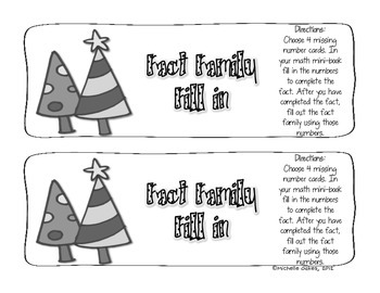 Christmas Fact Families Fill-ins