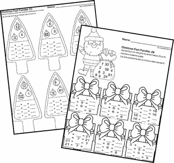 Christmas Fact Families - Multiplication and Division