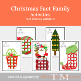 Christmas Fact Family Activities: Fact Fluency within 10