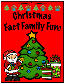 Christmas Fact Family Fun; Ten Frames, Rekenrek and Number Lines