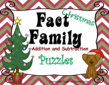 Christmas Fact Family Puzzles Centers  Activities Math Tubs Stations