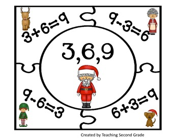 Christmas Fact Family Puzzles
