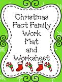 Christmas Fact Family Work Mat/Worksheet