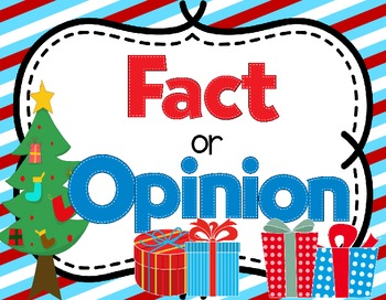 Fact and Opinion